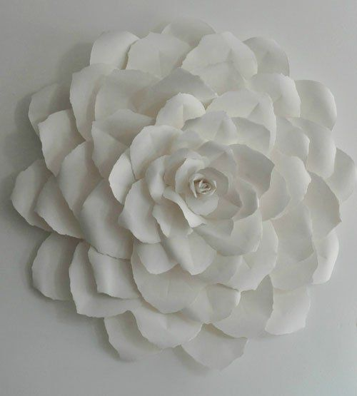 Rose Paper Sculpture Paper Flower Art Paper Flowers