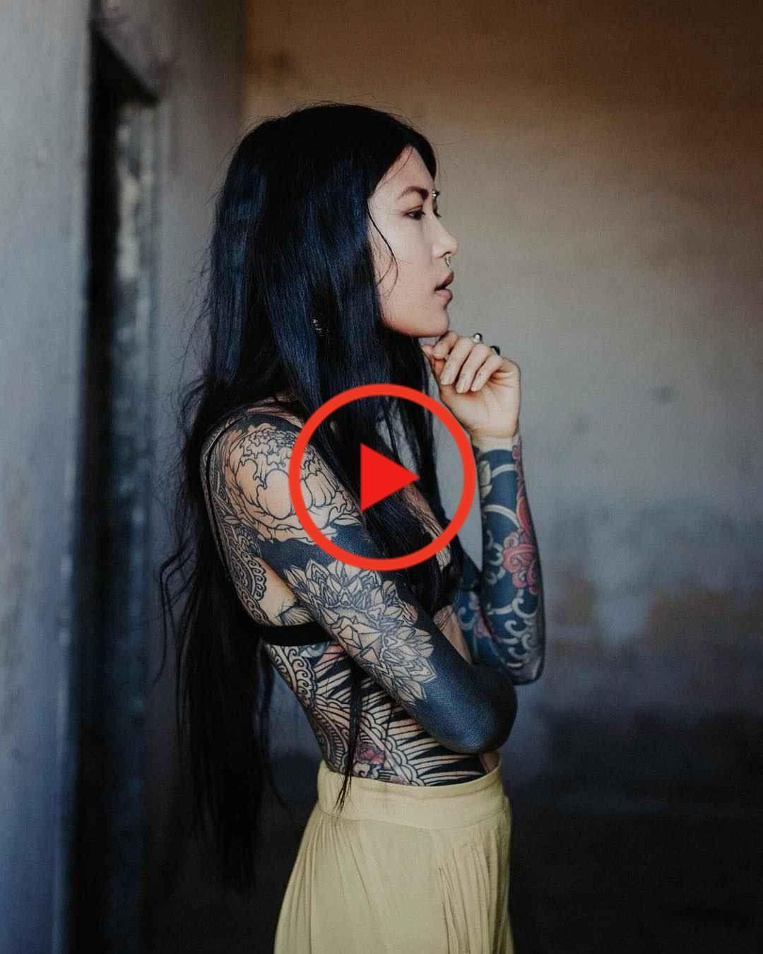 Tattoo model Anh Wisle -  Tattoo model Anh Wisle, alternative photo model, tattooed girl | France #tattooideas #besttattooide - #Anh #liontattoo #model #tattoo #tattoogirlmodels #wisle