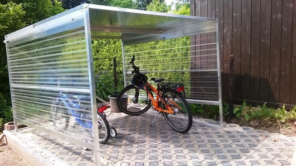 fahrradgarage fahrradbox sylt f r 4 5 fahrr der r der version f r 7 8 garage v lo. Black Bedroom Furniture Sets. Home Design Ideas