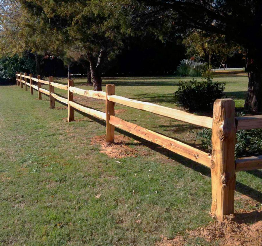 Split Rails Are Just So Beautiful Fence Landscaping Rustic