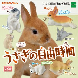 エポック社のカプセルコレクション うさぎの自由時間 の商品ページ うさぎ かわいいウサギ ウサギ