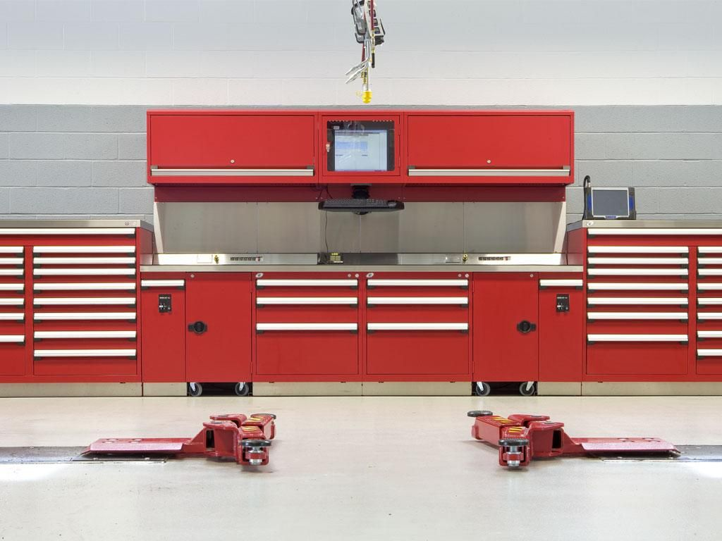 Sun Motor Cars Audi Porsche, PA   Service Department   Rousseau Metal  Cabinets, Shelvingu0027s, Workstations, Workplaces, Toolboxu0027s, Drawers And  Other ...