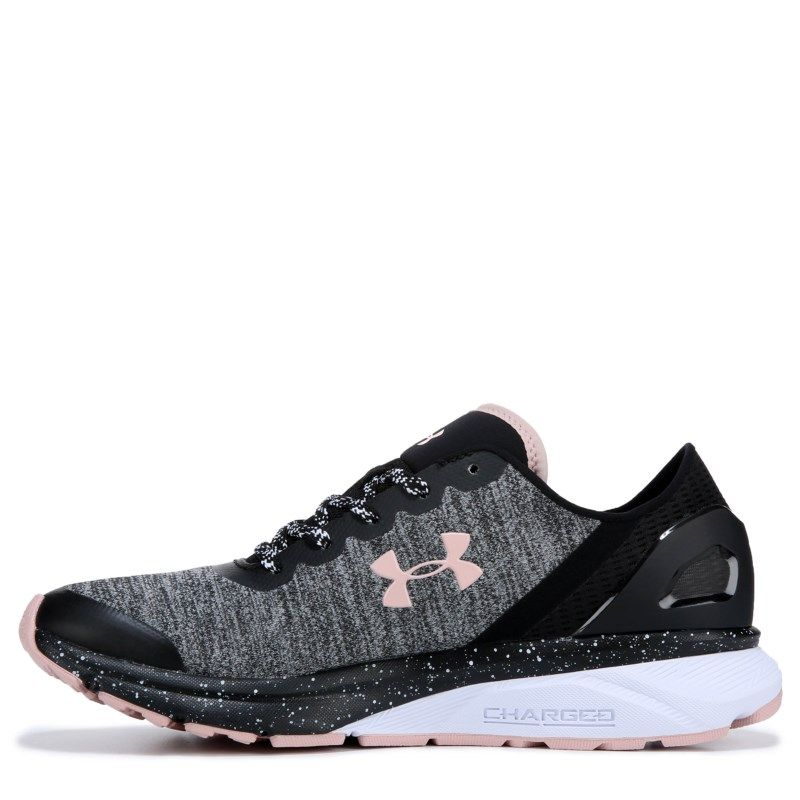 Viva túnel capacidad  Under Armour Women's Charged Escape Running Shoes (Black / Pink) | Black  running shoes, Womens shoes sneakers, Running shoes fashion