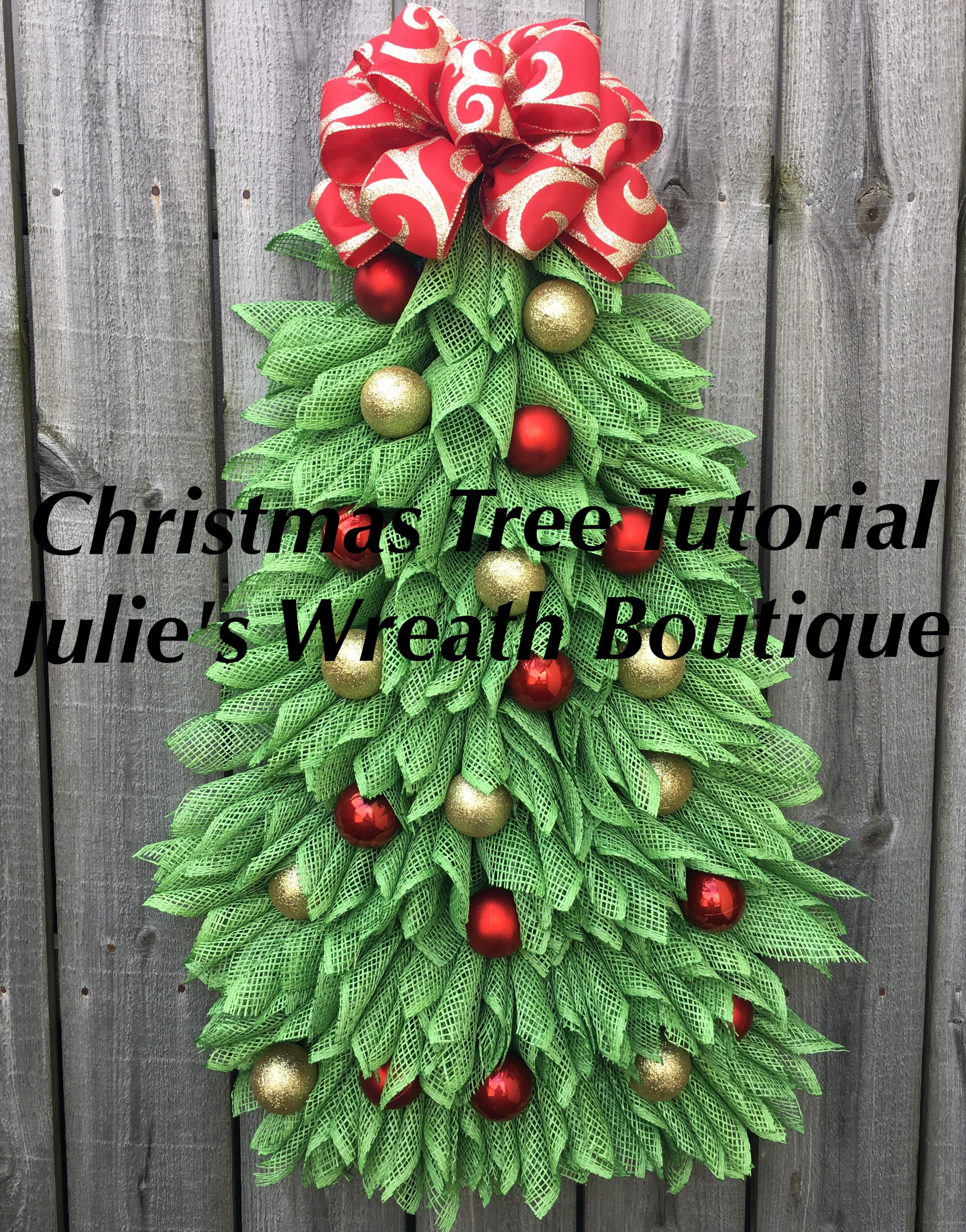 Christmas Tree Tutorial Angel Wreath Tutorial Diy Christmas Wreath Tutorial Video Tutorial Make Your Own Wreath Video Tutorial Mesh Christmas Tree Make Your Own Wreath Diy Christmas Tree