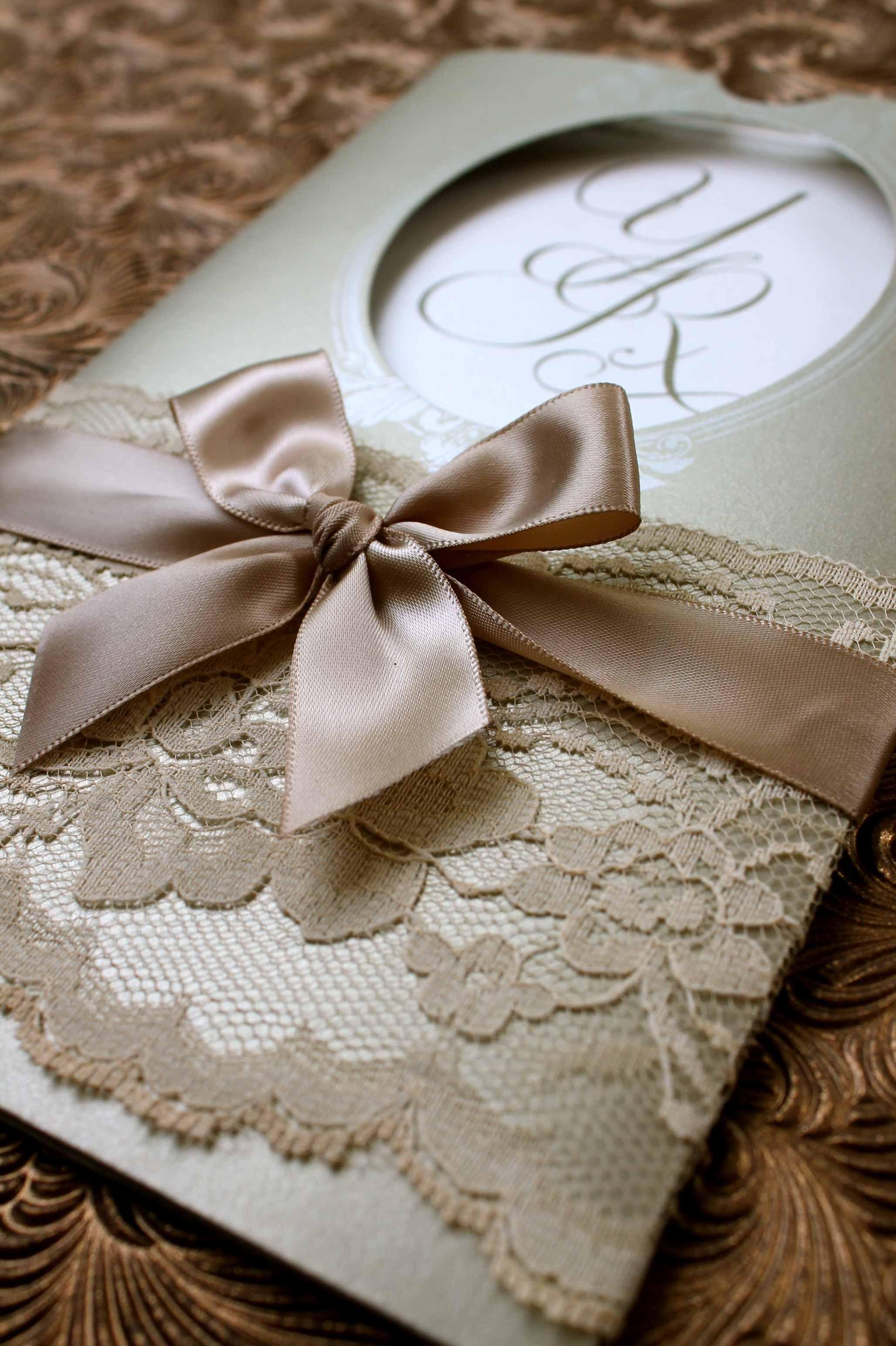 Invitaciones de boda vintage elegantes