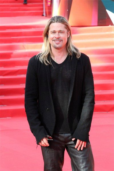 Brad Pitt attends the opening of the Moscow International Film Festival on June 20, 2013.