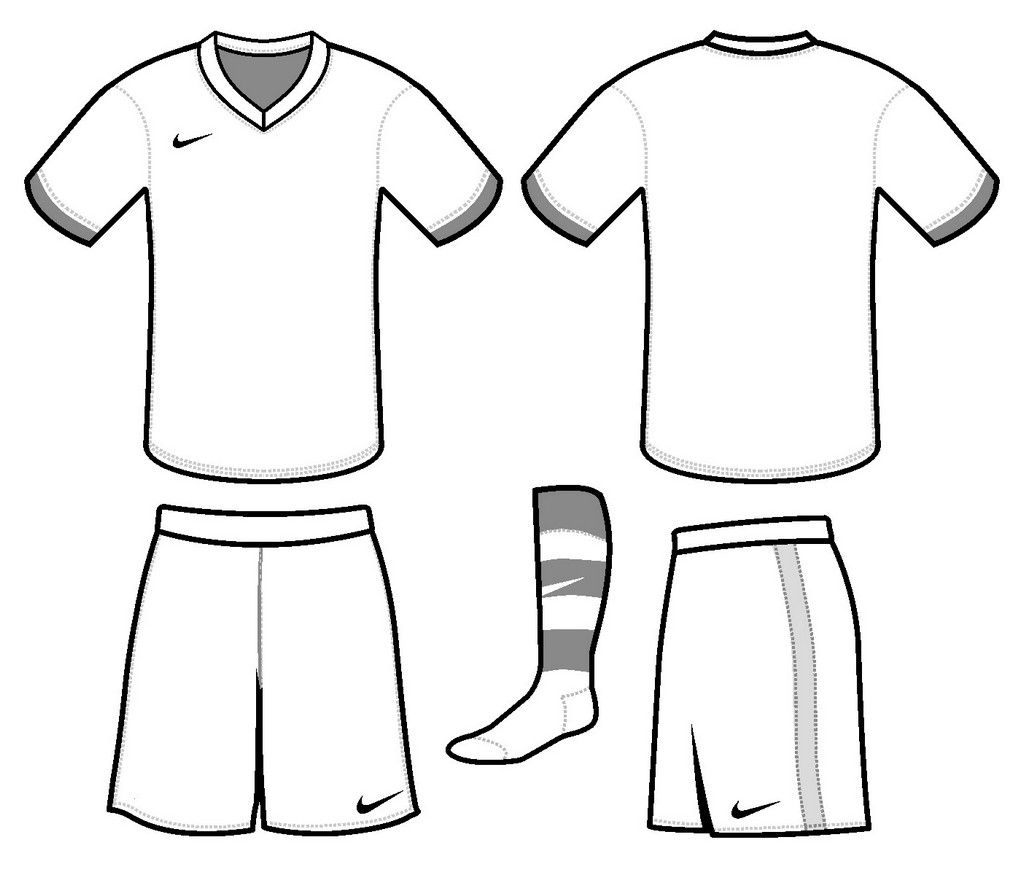Soccer Jersey Nike Coloring and Drawing Page (With images
