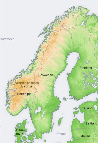 Topographic Map Of Scandinavia German Map Topographic Map Scandinavia
