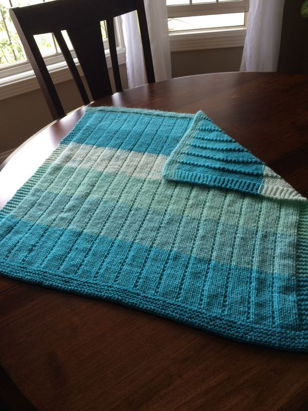 Baby blanket Caron cakes yarn. Pattern from Etsy | Knitting | Pinterest