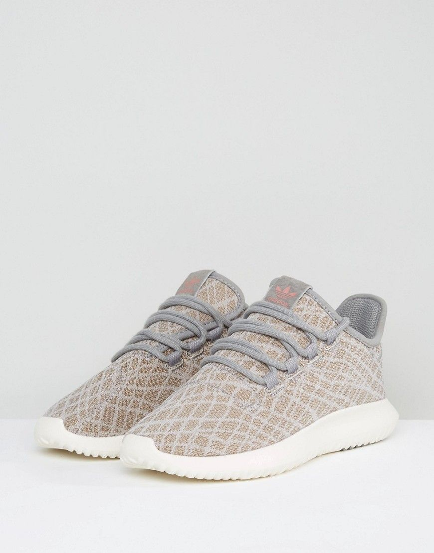 cheap for discount 944d6 f840e adidas Originals Tubular Shadow Sneakers In Gray Print ...
