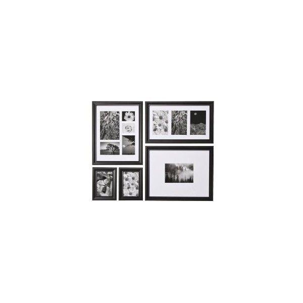 Black 5 Pack Wall Value Frames : Target ($24) ❤ liked on Polyvore ...