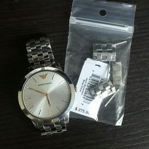 730143e8ab7  300 Emporio Armani Stainless Steel Men s Watch Authentic. Comes with box
