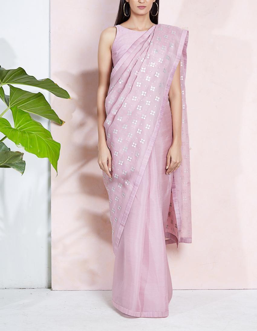 Lilac saree,,,,,organza saree,,,,worked saree