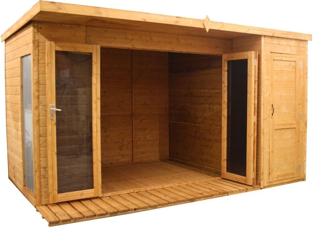 Details About Mercia Garden Wooden Garden Room Cabin Shed