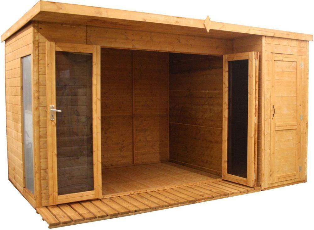 mercia garden wooden garden room cabin shed combi 12 x 8ft - Garden Sheds With Patio