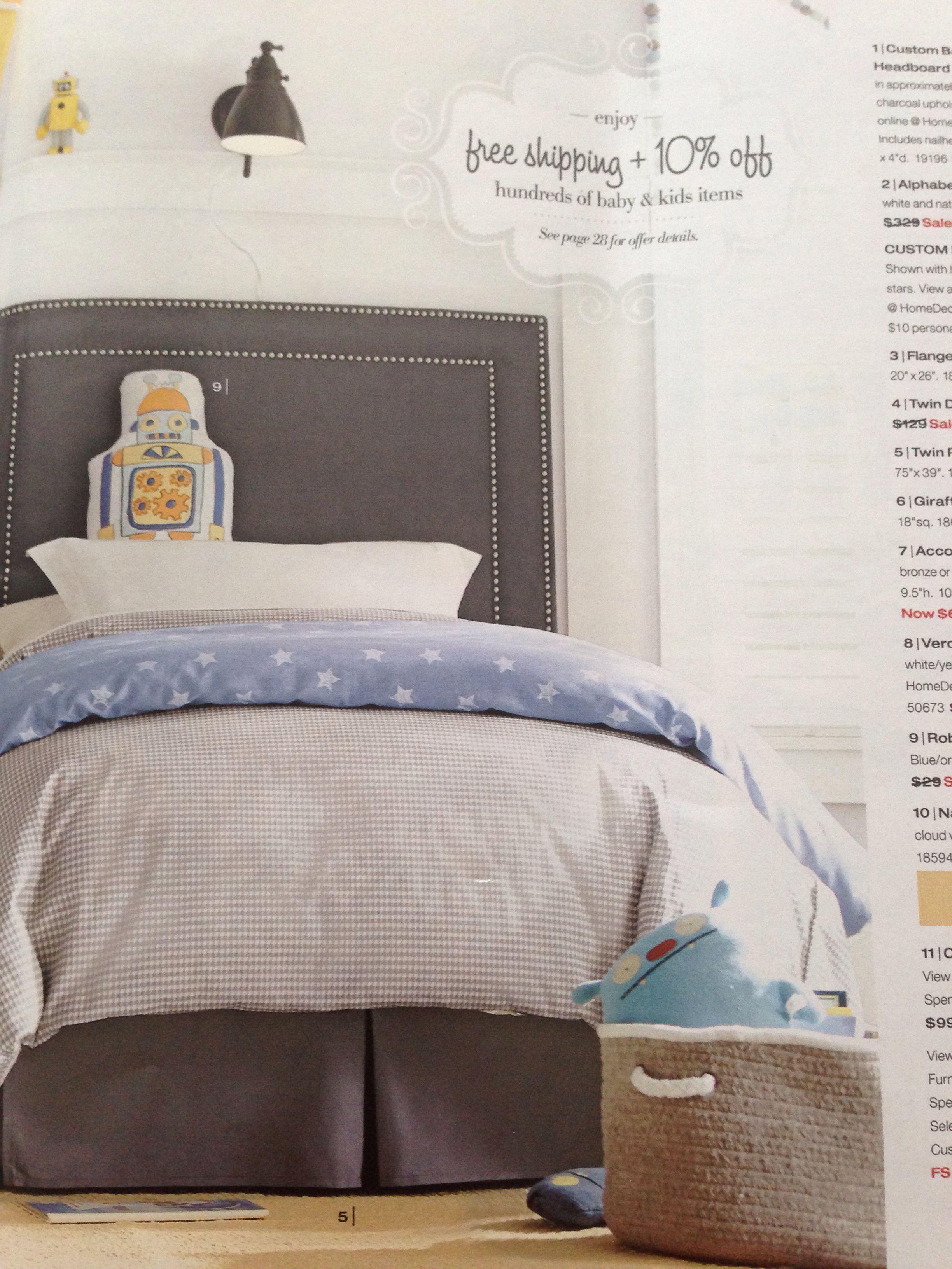 Spencer & Gracie Home Decorators - robot pillow