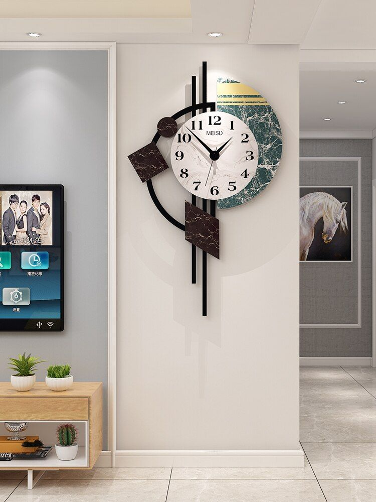 Pin By Reethu On Wall Clock Modern Kitchen Wall Clocks Wall Clocks Living Room Wall Clock Decor Living Room