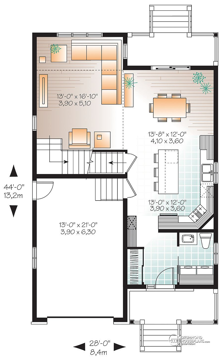 4 master bedroom house plans  House plan W detail from DrummondHousePlans  small homes