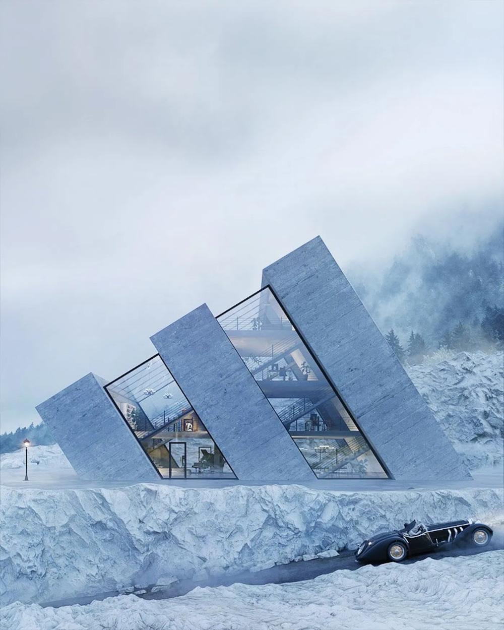 Ce studio imagine des maisons en sinspirant des logos de grandes marques