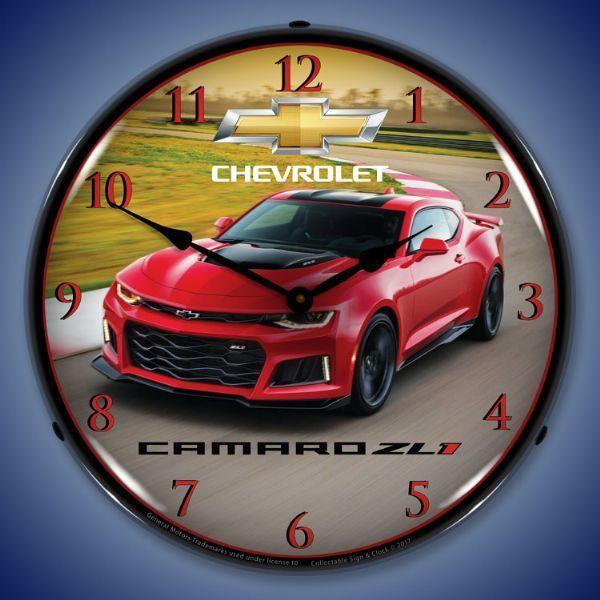 2017 Camaro Zl1 Led Lighted Wall Clock 14 X 14 Inches Camaro Zl1 2017 Camaro Zl1 Chevrolet