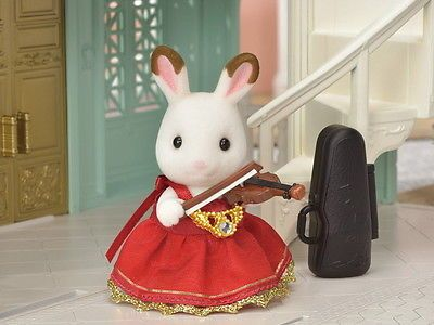 Sylvanian Families GIRL/'S DRESS /& ACCESSORY RED Violin Calico Critters Japan