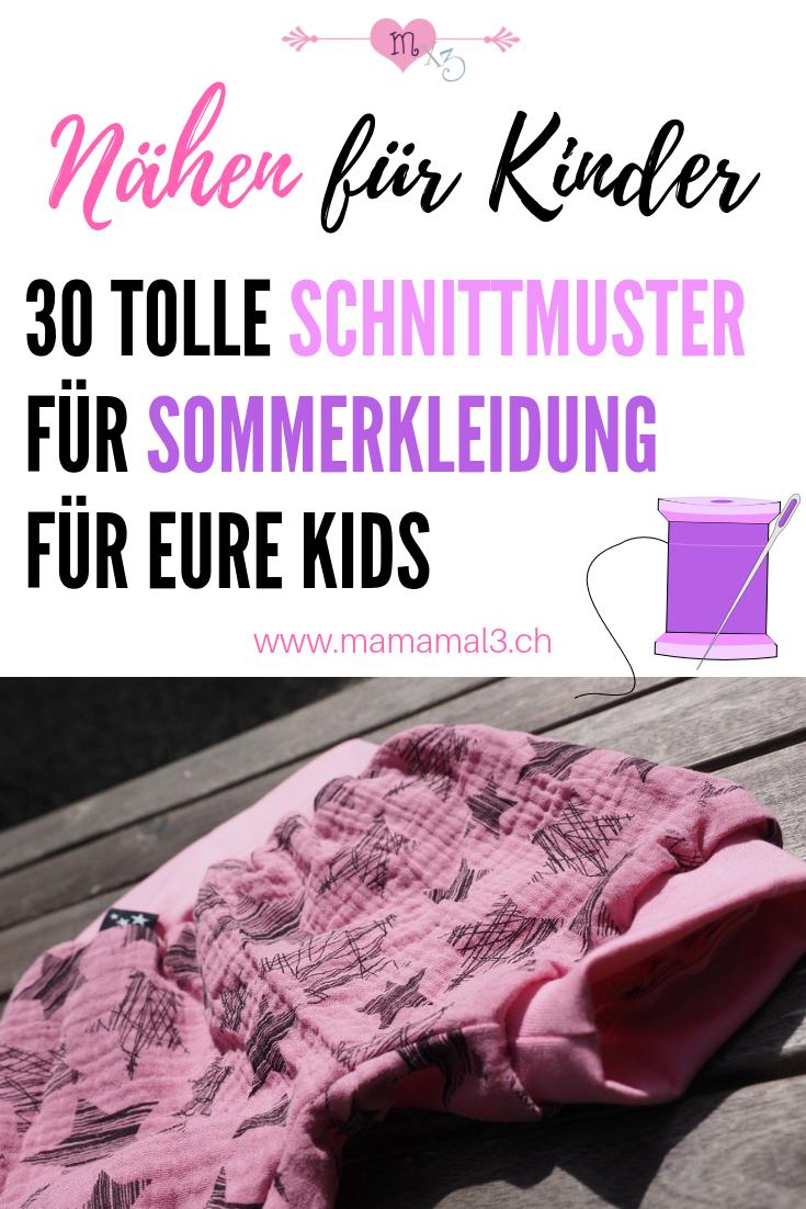 Sommerkleidung nähen für Kinder - 30 Schnittmuster