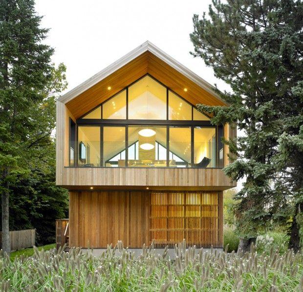 Maison Glissade par Atelier Kastelic Buffey Architecture, Wood - plan maison en forme de u