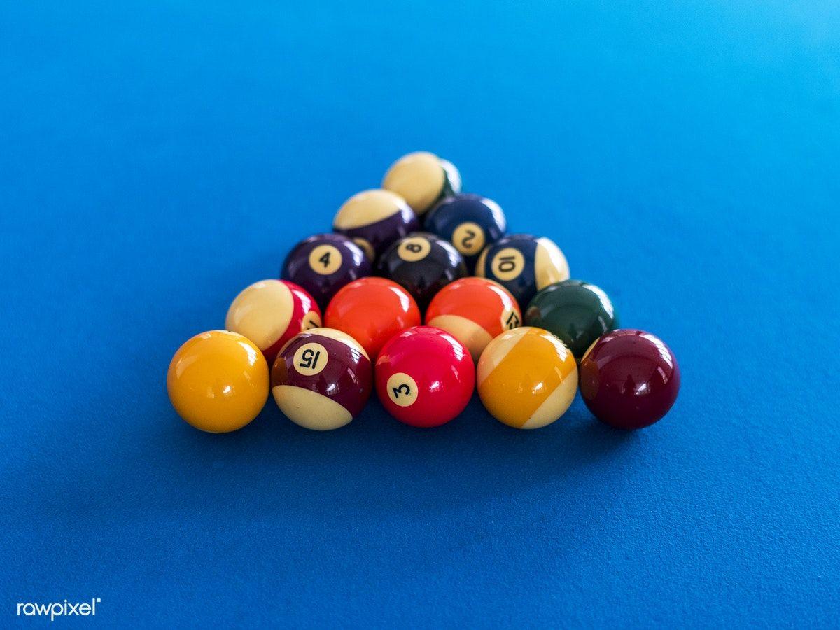 Download Premium Image Of Billiard Balls Setup On A Pool Table 404600 Pool Table Billiards Snooker Table