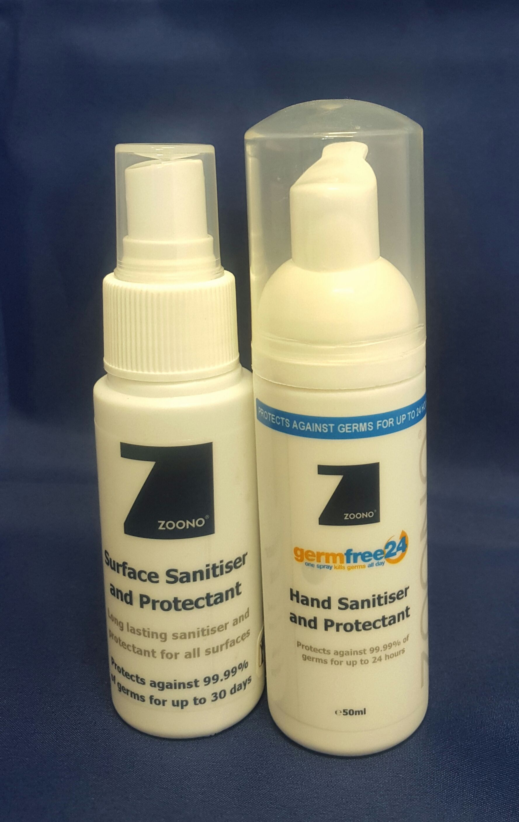 Zoono Travel Pack Includes 50ml Germfree24 Hand Sanitiser And
