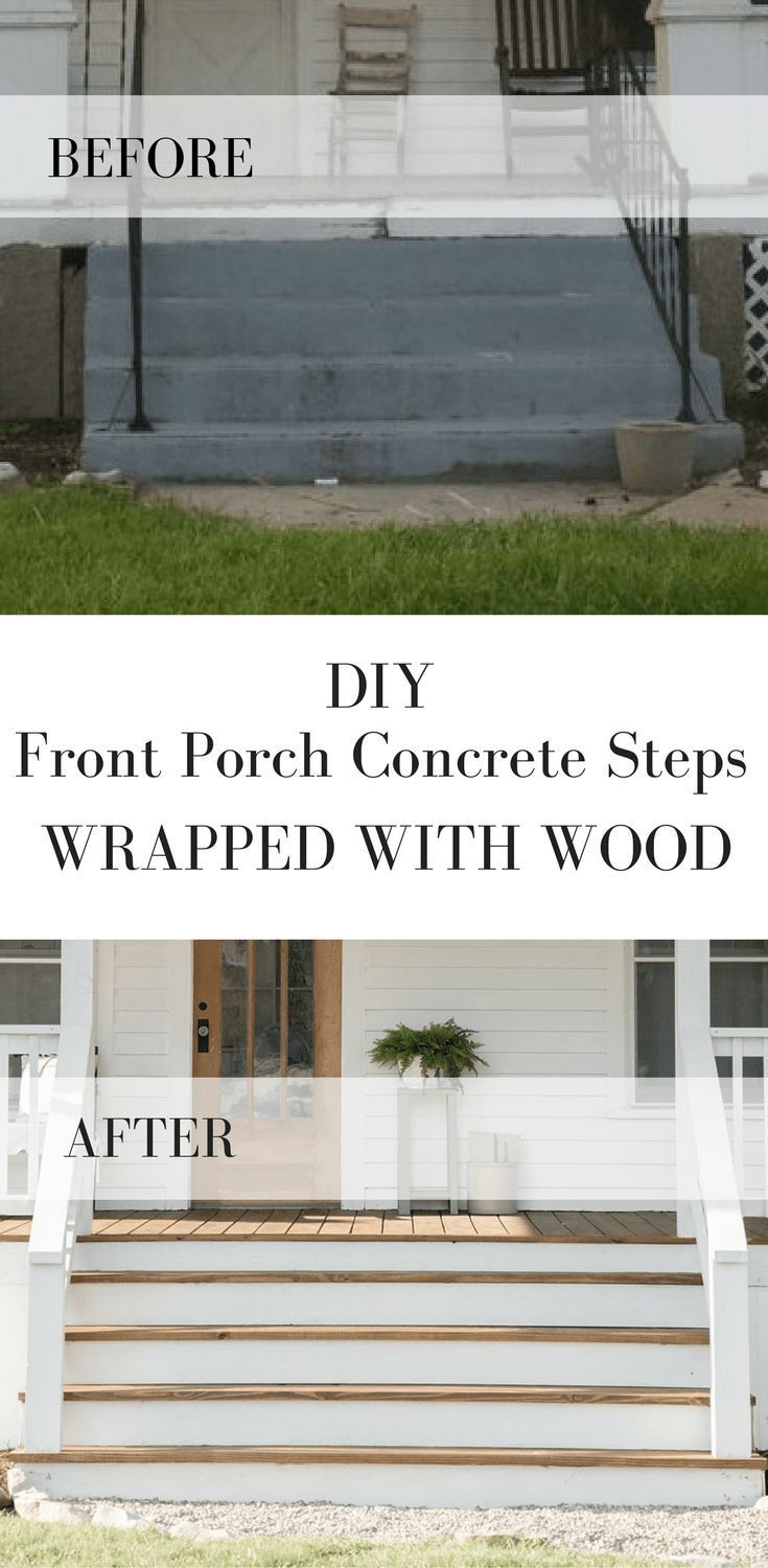 How to Cover Concrete Steps with Wood #sideporch