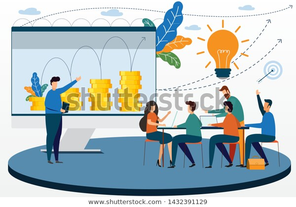 Business Meetings Create Value Their Products Stock Vector Royalty Free 1432391129 Business Person Royalty Free Business