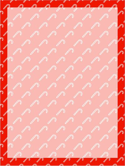 Candy Cane Stationery Template From PrintabletreatsCom