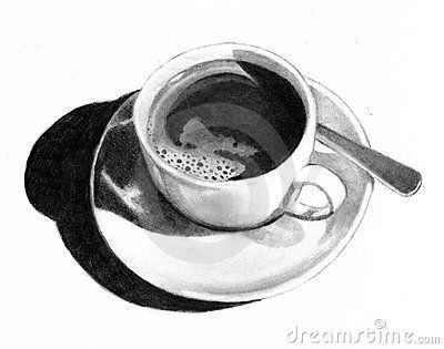 coffee cup pencil drawings
