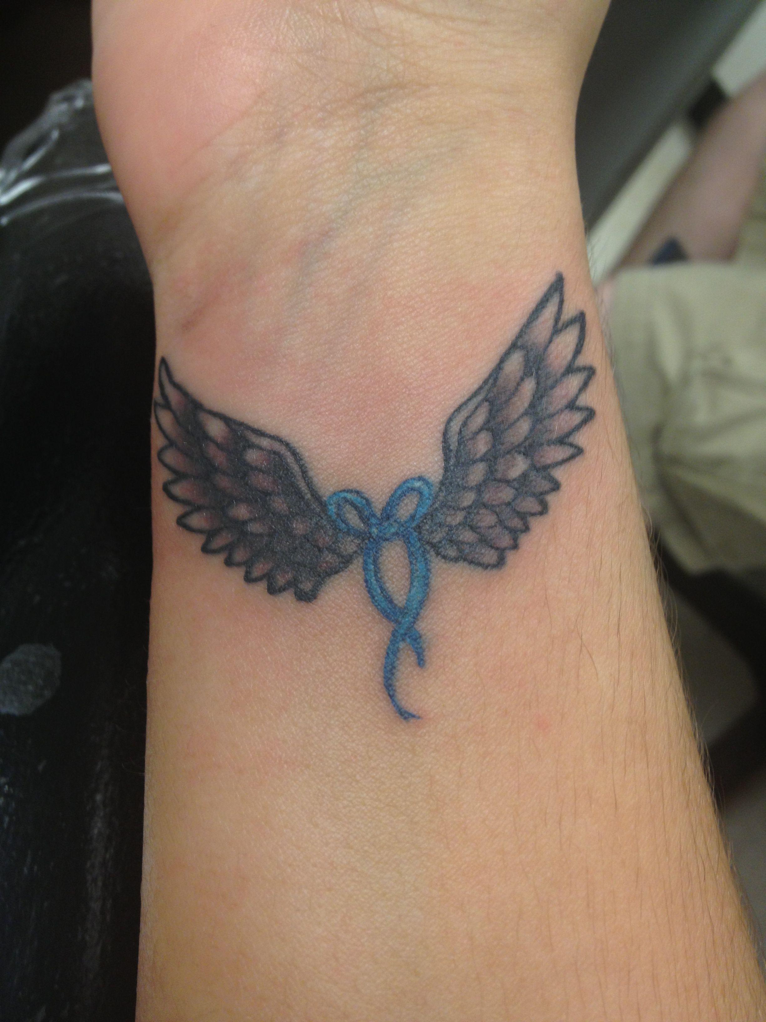 Angel wing wrist tattoo ink pinterest wrist tattoo for Back of wrist tattoo