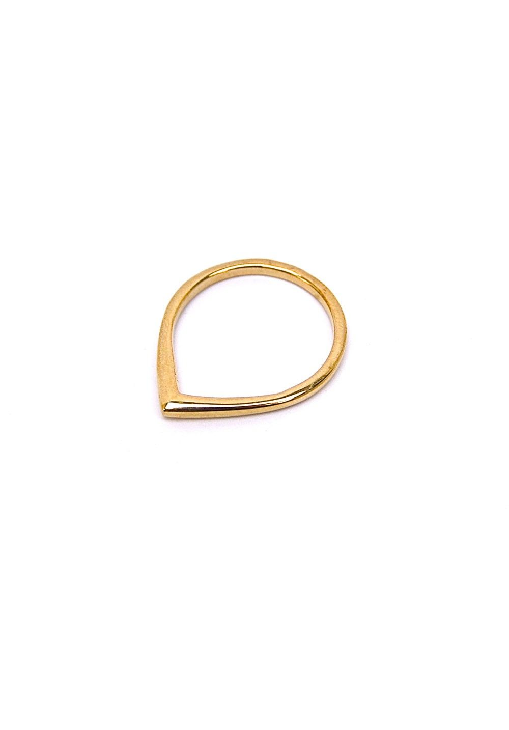 Anna corrigan teardrop ring yellow gold rings body jewelry