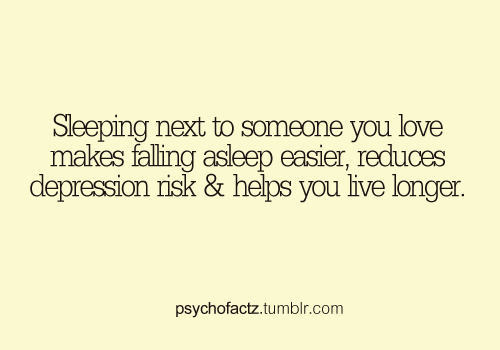 Sleeping next to someone facts