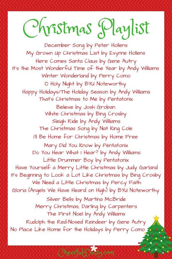 TwentyFive Christmas Songs to Add to Your Playlist (With