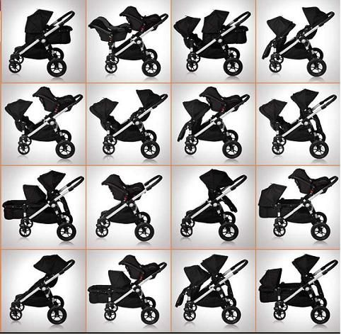Baby Jogger City Select Double Stroller 2012 In Onyx Black Baby Jogger City Select City Select Double Stroller Baby Jogger City Select Stroller