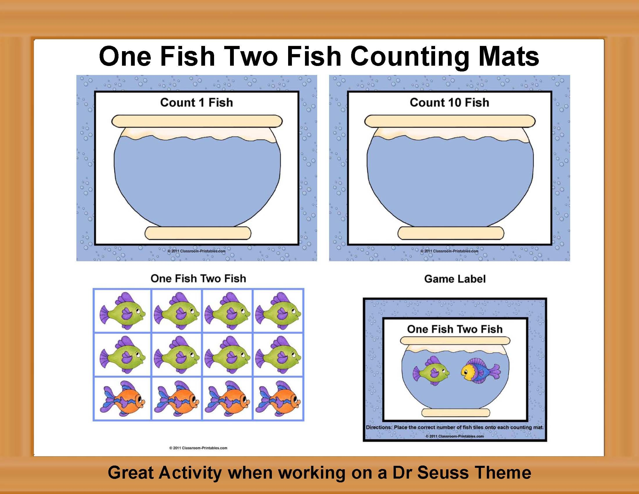 One Fish Two Fish Counting Mats