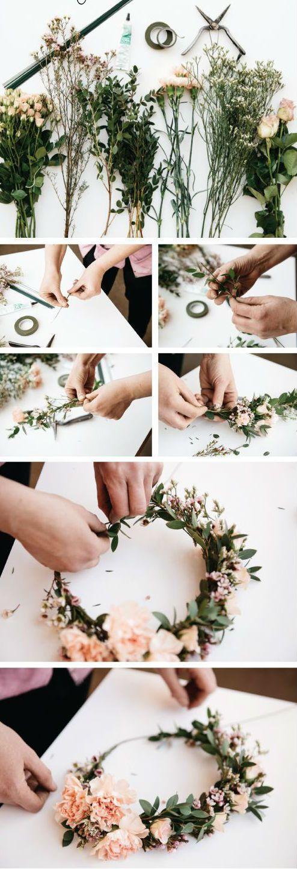 Blumenkranz für die Haare selber machen: 26 Anleitung #wildflowers