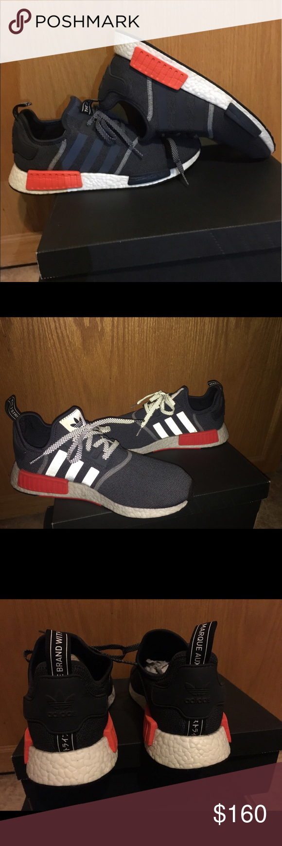 big sale e82b6 f9698 Adidas NMD R1 GREY On Feet