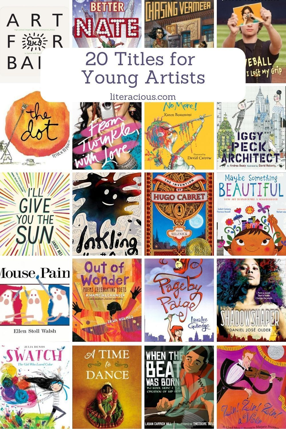 20 titles for young artists summer reading 2020