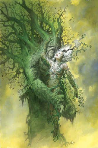 swamp thing!!! Simply gorgeous.  If you haven't ever read Swamp Thing and love horror check out Alan Moore's classic and amazing run on the series.