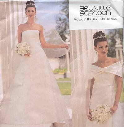 Vogue 2717 Misses Petite Wedding Dress with Train and Drape Sewing ...
