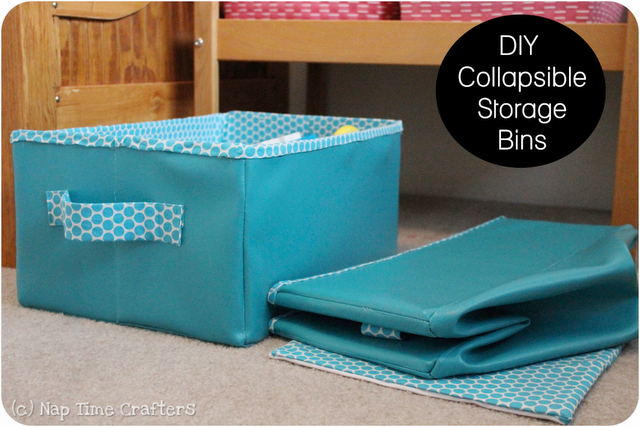Collapsible storage bin tutorial. Contain all of your clutter and then fold them down flat for storage when not in use