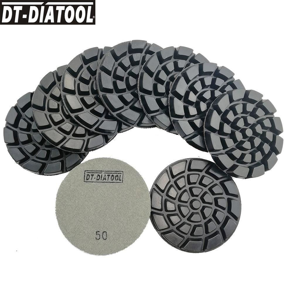 Diamond Polishing Pad 4 inch Dry 10 Piece DAMO BUFF Included Granite Concrete