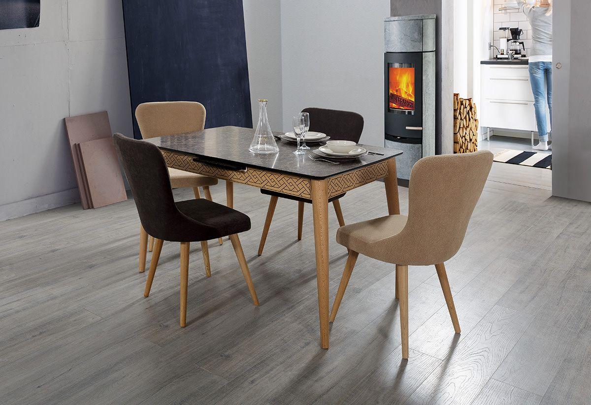 kahverengi tonlarinda sik masa sandalye takimi mutfak table chair masa sandalye moda home ev room mobilya sandalye evler