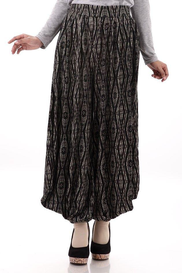 Zahira Aladin Pants Black Celana Muslim Wanita Online