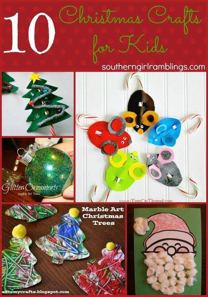 10 Easy Christmas Crafts for Kids | Christmas Decor, Recipes, Crafts ...