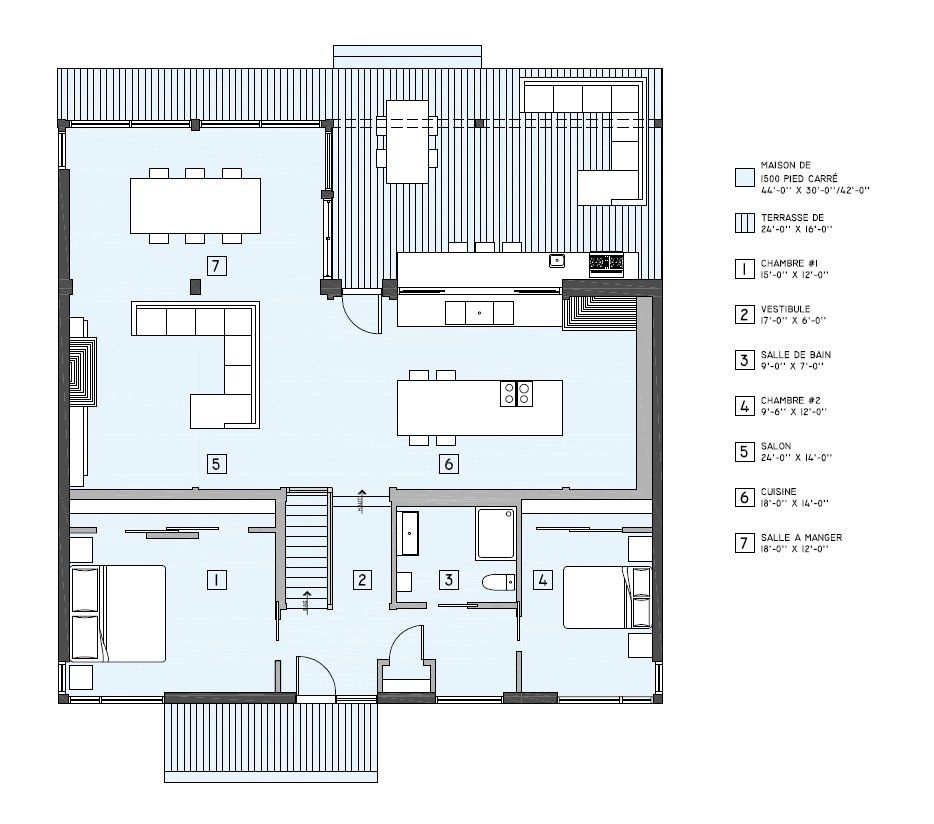 Maison neuve - Série Natur, modèle Natur-I construction - plan maison une chambre